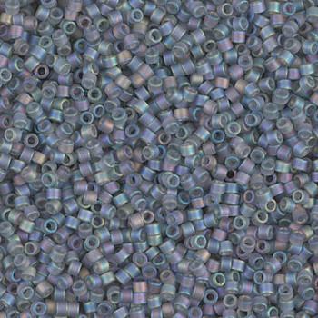 Delicas Size 11 Miyuki Seed Beads -- 863 Matte Grey AB