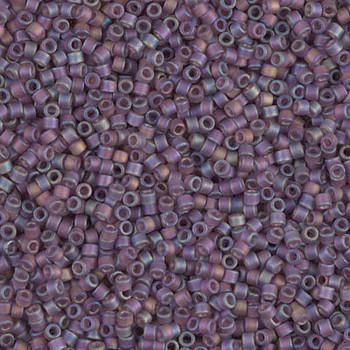 Delicas Size 11 Miyuki Seed Beads -- 869 Transparent Mauve AB Matte