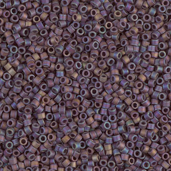 Delicas Size 11 Miyuki Seed Beads -- 884 Opaque Brown AB Matte