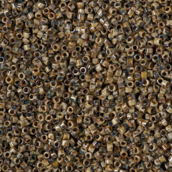 Delicas Size 11 Miyuki Seed Beads -- 2267 Picasso Brown