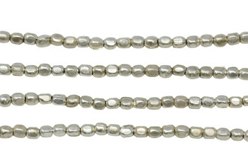 Silver Plated Brass 2mm Tiny Faceted Square