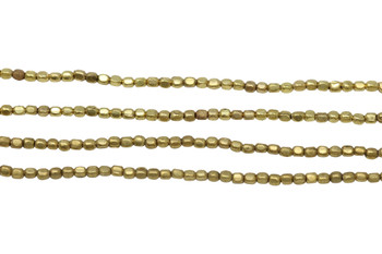 Gold Plated Brass 2mm Tiny Faceted Square