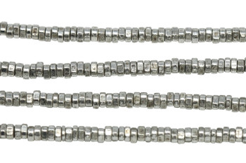 Silver Plated Brass 1.5x3mm Small Faceted Triangle