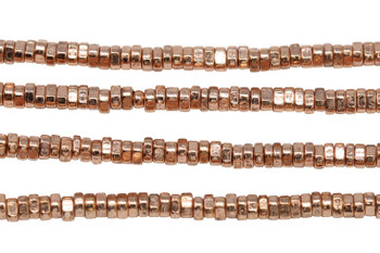 Rose Gold Plated Brass 1.5x3mm Small Faceted Triangle