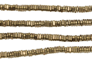 Brass 2x4mm Faceted Triangle