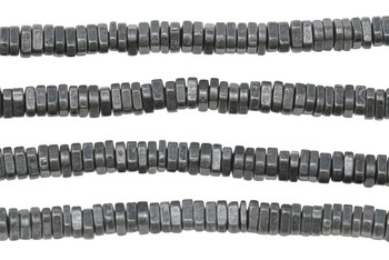 Gunmetal Plated Brass 2x4mm Faceted Triangle