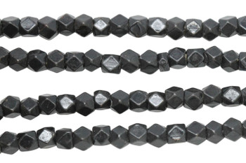 Gunmetal Plated Brass 4.5mm Faceted Cube