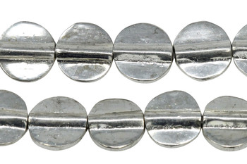 Silver Plated Brass 11mm Flat Round