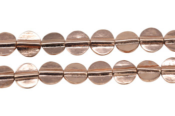 Rose Gold Plated Brass 11mm Flat Round