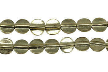 Gold Plated Brass 11mm Flat Round
