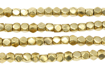 Brass 7mm Faceted Cube