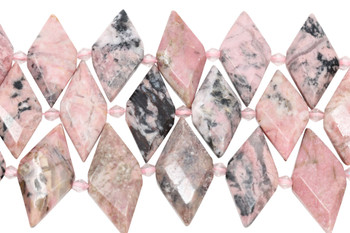 Rhodonite Polished 15x32mm Rhombus