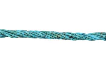 American Turquoise Polished 4mm Tube