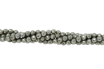 Pyrite Polished 6mm Faceted Round