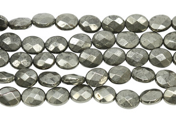 Pyrite Polished 8x10mm Faceted Oval
