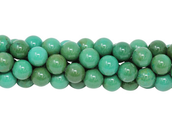 Howlite Blue Green Polished 8mm Round