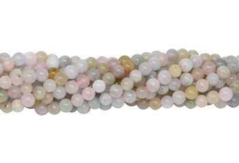 Morganite Polished 4mm Round