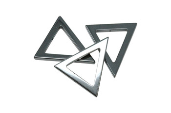 Hematite 30mm Triangle Pendant