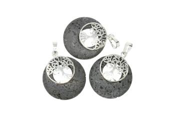 Lava Silver 30mm Tree Pendant