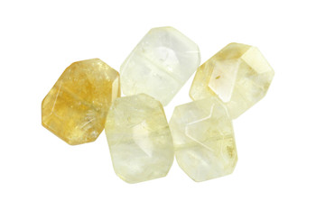 Citrine 20x15mm Faceted Flat Nugget