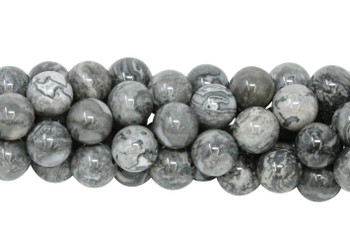 Grey Crazy Lace Agate Polished 12mm Round