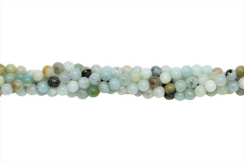 Amazonite Multi Color Polished 4mm Round