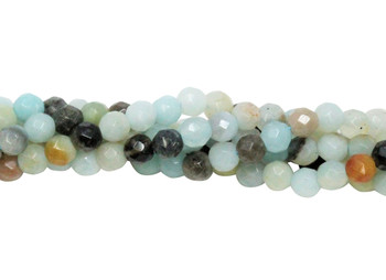 Amazonite Multi Color Polished 4mm Faceted Round
