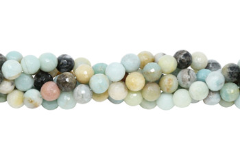 Amazonite Multi Color Polished 8mm Faceted Round