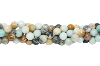 Amazonite Multi Color Polished 10mm Faceted Round