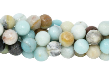Amazonite Multi Color Polished 12mm Faceted Round