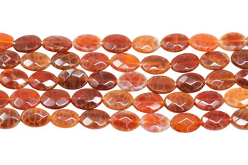 Fire Agate Polished 8x12mm Faceted Oval