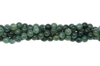Moss Agate Polished 6mm Round
