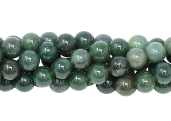Moss Agate Polished 8mm Round