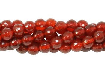 Carnelian Polished 6mm 128 Cut Faceted Round