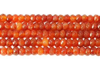 Carnelian Polished 5x8mm Faceted Rondel