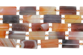 Carnelian Polished 14x28mm Faceted Pillow