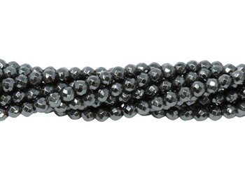 Hematite Polished 3mm Faceted Round