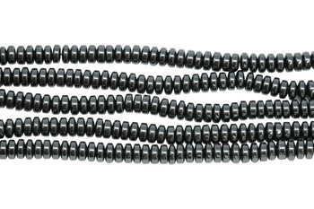 Hematite Polished 2x4mm Rondel