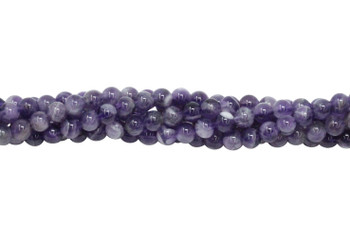 Dog Tooth Amethyst Polished 4mm Round