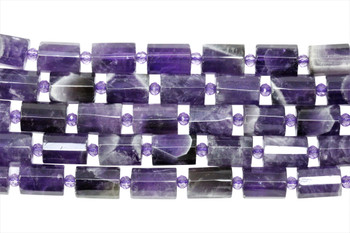 Amethyst Polished 10x14mm Faceted Drum