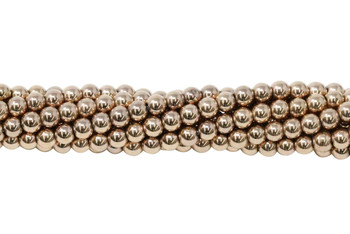 Rose Gold Plated Hematite Polished 3mm Round