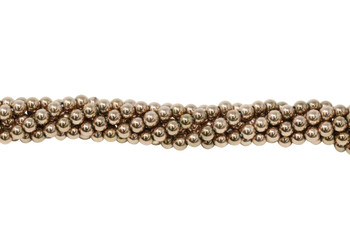 Rose Gold Plated Hematite Polished 4mm Round