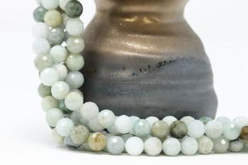 Burmese Jade Polished 8mm Faceted Round