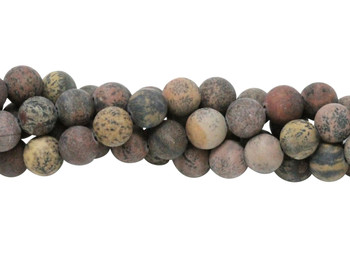Coffee Bean Jasper Matte 8mm Round