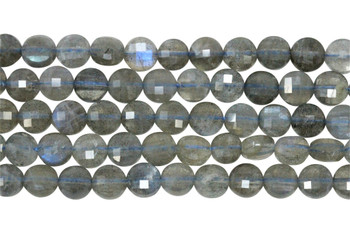 Labradorite Polished 6mm Faceted Coin
