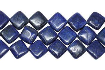 Lapis Lazuli Dyed Polished 14mm Diamond