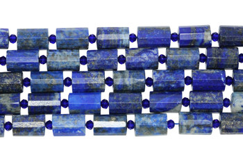 Lapis Polished 10x14mm Faceted Drum