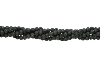 Black Lava Rock Coated Natural 4mm Round