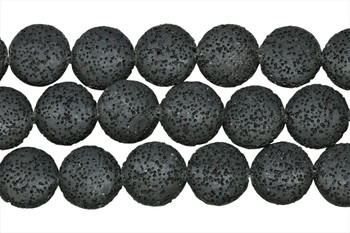 Black Lava Rock Dyed 20mm Coin