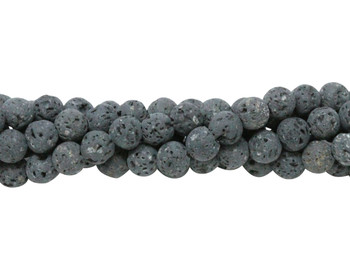 Lava Rock Uncoated Natural 6mm Round